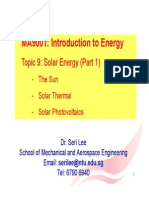 Lecture 11- Solar Energy