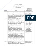 Course Outline - Accounting for Decision Making