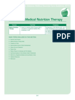 Medical Nutrition Therapy for Diabetes Type i & II