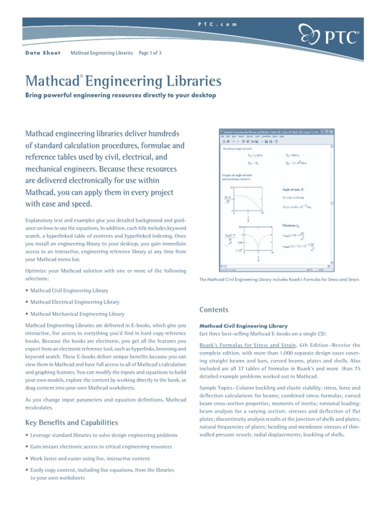 Ptc Mathcad Engineering Libraries | Buckling | Network Analysis ...