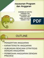 Penyusunan Program Dan Anggaran