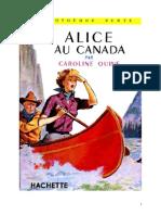 Caroline Quine Alice Roy 12 BV Alice Au Canada 1935