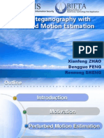 Video Steganography With Perturbed Motion Estimation