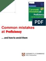 Common Mistakes Proficiency