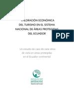 Valoración Económica del Turismo en el Sistema Nacional de Áreas Protegidas del Ecuador