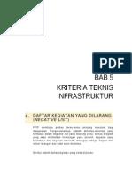Bab 5. Kriteria Teknis iNFRASTRUKTUR