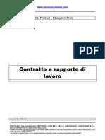 Contratto e Rapporto Di Lavoro
