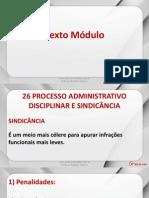 Lei 8112 - Aula 10 - Processo Administrativo Disciplinar Características do Processo Disciplinar