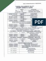 Structura Anului Universitar 2013 - 2014