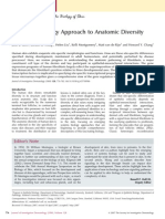 A Systems Biology Approach to Anatomic Diversity