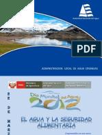 Exposicion El Agua y La Seguridad Alimentaria