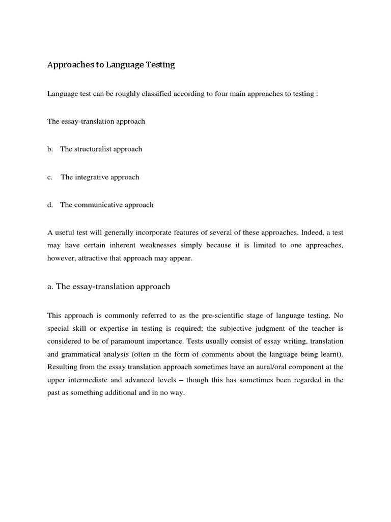 approaches to language testing reading comprehension language approaches to language testing reading comprehension language acquisition