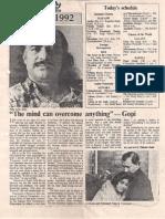 Interview Jan 17 1992 Deccan Herald