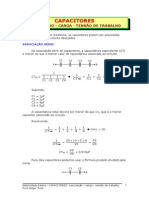 capacitores - associação, carga e tensão de trabalho