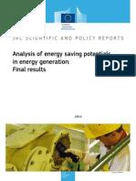 Energy savings in power sector