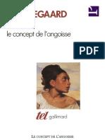 Le Concept de l'Angoisse - Kierkegaard, Soren