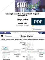Estimating Secondary Mass Changes in Vehicle Design With Application to the Design Advisor