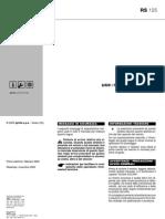 Aprilia RS 125 - Manuale Di Uso e Manutenzione