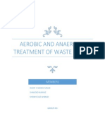 Aerobic and Anaerobic Treatment of Waste Water