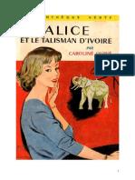 Caroline Quine Alice Roy 13 BV Alice Et Le Talisman d'Ivoire 1936