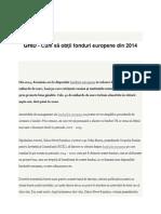 GHID - Cum să obţii fonduri europene din 2014