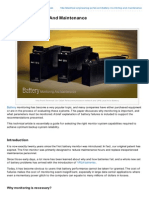 Electrical Engineering Portal.com Battery Monitoring and Maintenance