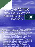 EL CARÁCTER