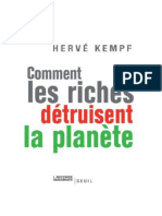 Herve Kempf - Comment les riches détruisent la planète