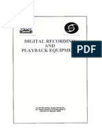 digital recording and playback equipment
