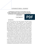 Artak Beglaryan, Comparative Analysis of the Impact of the Ethno–Territorial Conflicts on the Armenian, Azerbaijani and Georgian National Security Documents,  Regional Affairs, vol. 3 (November 2013), pp. 16-24