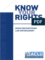 Know Your Rights - ACLU