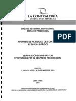 Informe Contraloría Nadine Heredia 005 2013 DP OCI Perú
