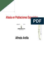 Chile Afasia en Poblaciones Especiales