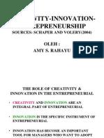 Creativity, Innovation, Entrepreneurship
