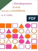 [a. R. Luria] Cognitive Development, Its Cultural (Bookos.org)