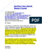 DHHS Child Protection Lies About Dr. Carl Baum