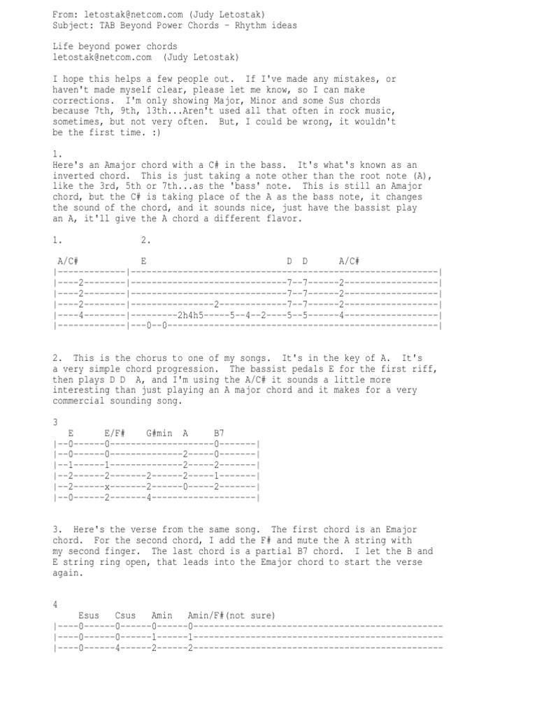 Enchanting The Same Power Chords Illustration Beginner Guitar