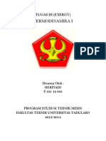 Tugas III Termodinamika I (Exergy)
