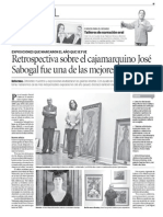 Exposiciones que marcaron el año que se fue | El Peruano | 01.Ene.2014. P. 15