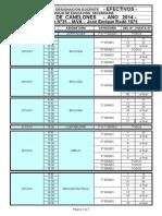Calendario Canelones Efectivos 2014
