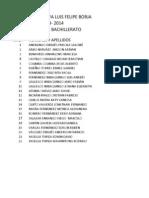 Nomina Estudiantes Primero y Segundo Bachillerato Brigada Estudiantil