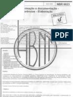 Abnt Nbr 6023 Referencias Bibliografica Em Documentos