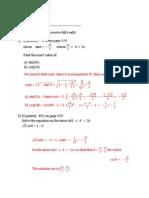 Math 125 - Quiz 5 - Solution