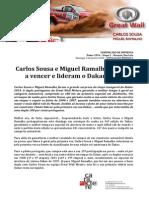 COMUNICADO DE IMPRENSA | CARLOS SOUSA - DAKAR'2014 - ETAPA 1