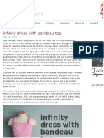 Infinity Dress With Bandeau Top