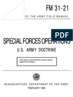 FM 31-21 Special Forces Operation