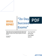 [Accelerated Learning] 20 Days to Succeed in Exams