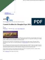 Canada Pavillion for Shangh..