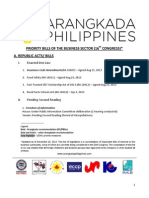 Legislative Priorities - Dec 2013 - 16th Congress