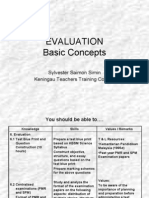 Lesson 5a Evaluation Basic Concepts